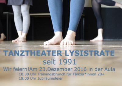 Wir feiern! Tanztheater Lysistrate seit 1991